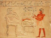αιγυπτιακός τοίχος πετρώ Στοκ εικόνες με δικαίωμα ελεύθερης χρήσης