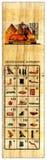 αιγυπτιακός hieroglyphs αλφάβητου πάπυρος Στοκ Εικόνες