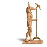 αιγυπτιακό άγαλμα Θεών anubis Διανυσματική απεικόνιση