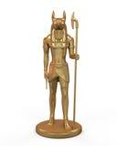 Αιγυπτιακό άγαλμα Anubis Διανυσματική απεικόνιση