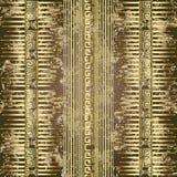 Αιγυπτιακό αρχαίο τρισδιάστατο ελληνικό διανυσματικό άνευ ραφής σχέδιο ύφους διανυσματική απεικόνιση