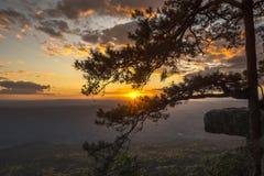 αιγυπτιακό ηλιοβασίλεμα βουνών ερήμων Στοκ εικόνα με δικαίωμα ελεύθερης χρήσης