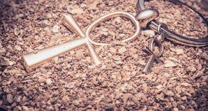 Αιγυπτιακό διαγώνιο Ankh Στοκ φωτογραφίες με δικαίωμα ελεύθερης χρήσης