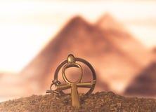 Αιγυπτιακό διαγώνιο Ankh Στοκ Φωτογραφίες