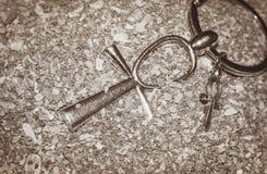 Αιγυπτιακό διαγώνιο Ankh Στοκ εικόνα με δικαίωμα ελεύθερης χρήσης