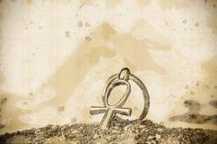 Αιγυπτιακό διαγώνιο Ankh Στοκ εικόνες με δικαίωμα ελεύθερης χρήσης
