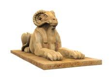 Αιγυπτιακό διευθυνμένο κριός άγαλμα Sphinx Στοκ εικόνες με δικαίωμα ελεύθερης χρήσης