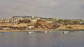 Αιγυπτιακό λιμάνι και αλιευτικό σκάφος στοκ εικόνες