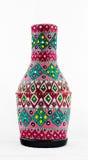 Αιγυπτιακό καλλιτεχνικό χρωματισμένο σκάφος αγγειοπλαστικής Στοκ Φωτογραφίες