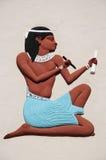 αιγυπτιακό χρωματισμένο ανάγλυφο Στοκ φωτογραφία με δικαίωμα ελεύθερης χρήσης