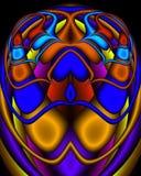 αιγυπτιακό fractal βασιλικό scarab Διανυσματική απεικόνιση