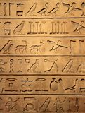 αιγυπτιακό hieroglyphics Στοκ φωτογραφίες με δικαίωμα ελεύθερης χρήσης