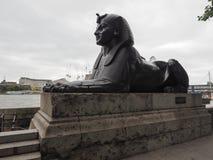 Αιγυπτιακό sphinx στο Λονδίνο Στοκ Φωτογραφίες