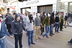 Αιγύπτιοι που καταδεικνύουν ενάντια στον Πρόεδρο Morsi Στοκ Φωτογραφία