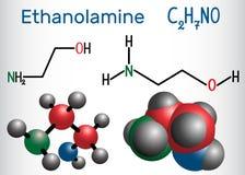 Αιθανολαμίνη ETA ή μόριο της MEA Είναι μια αρχική αμίνη και Στοκ Εικόνες
