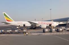Αιθιοπικές αερογραμμές Boeing 777-200 Στοκ φωτογραφία με δικαίωμα ελεύθερης χρήσης