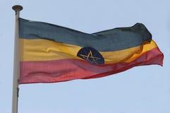 αιθιοπική σημαία Στοκ φωτογραφίες με δικαίωμα ελεύθερης χρήσης