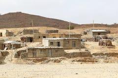 Αιθιοπικό χωριό στην κατάθλιψη danakil, Αφρική Στοκ Φωτογραφίες