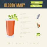 αιματηρή Mary Infographic σύνολο κοκτέιλ επίσης corel σύρετε το διάνυσμα απεικόνισης Στοκ Εικόνες