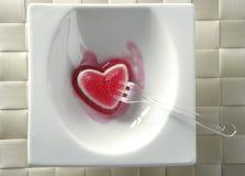 αιματηρός φάτε τη φράουλα ζελατίνας καρδιών Στοκ εικόνα με δικαίωμα ελεύθερης χρήσης