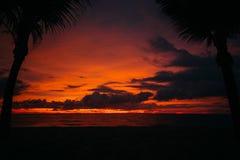 αιματηρό ηλιοβασίλεμα σε Phu Quoc στοκ εικόνες με δικαίωμα ελεύθερης χρήσης