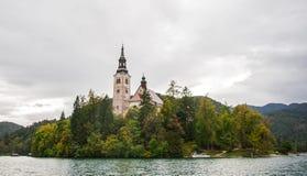 Αιμορραγημένη εκκλησία, Σλοβενία Στοκ εικόνες με δικαίωμα ελεύθερης χρήσης