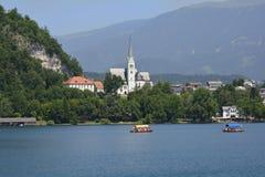 αιμορραγημένος vintgar καταρράκτης αιθαλομίχλης της Σλοβενίας Στοκ Εικόνες