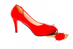 Αιμορραγώντας κόκκινο υψηλό τακούνι στοκ εικόνες με δικαίωμα ελεύθερης χρήσης