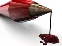 αιμορραγώντας πέννα Στοκ Εικόνες