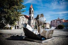 Αιμόφυρτη πλατεία της πόλης Tarnowskie στοκ εικόνα με δικαίωμα ελεύθερης χρήσης