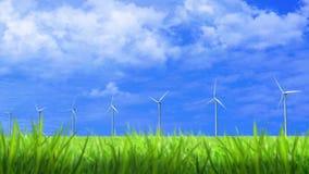 Αιολική ενέργεια Eco απόθεμα βίντεο