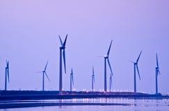 Αιολική ενέργεια ακτών της Ταϊβάν Στοκ Εικόνες