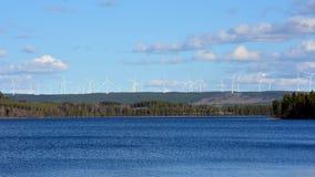 Αιολικό πάρκο Mörttjärnberget Στοκ Φωτογραφίες