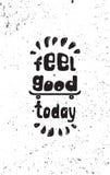 Αισθανθείτε καλός σήμερα κινητήριο Skateboard αφισών διανυσματική απεικόνιση