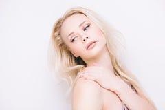 Αισθησιακός ξανθός Στοκ εικόνα με δικαίωμα ελεύθερης χρήσης