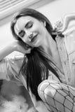 Αισθησιακό θηλυκό πορτρέτο Στοκ εικόνα με δικαίωμα ελεύθερης χρήσης
