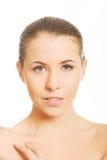 Αισθησιακό πορτρέτο της γυμνής γυναίκας Στοκ Εικόνες
