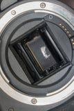 Αισθητήρας ψηφιακών κάμερα και ξιφολόγχη φακών Στοκ φωτογραφία με δικαίωμα ελεύθερης χρήσης