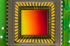 Αισθητήρας CCD σε μια κάρτα Στοκ Εικόνες