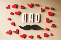 Αισθητό κείμενο μπαμπάδων με το mustache Στοκ εικόνα με δικαίωμα ελεύθερης χρήσης
