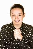 Αισιόδοξη νέα κυρία Στοκ εικόνα με δικαίωμα ελεύθερης χρήσης