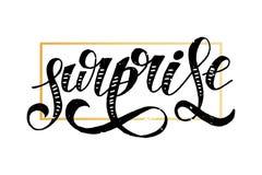 Αιφνιδιαστικής γράφοντας καλλιγραφίας βουρτσών κειμένων χρυσός αυτοκόλλητων ετικεττών διακοπών διανυσματικός Στοκ Εικόνες