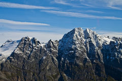 Αιχμές βουνών παγετώνων Mendenhall Στοκ Φωτογραφία