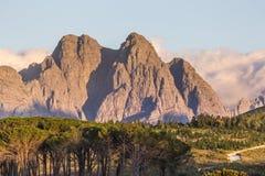 Αιχμές βουνών σε Stellenbosch Στοκ φωτογραφίες με δικαίωμα ελεύθερης χρήσης
