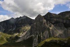 αιχμές βουνών Στοκ Φωτογραφία
