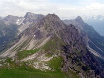 αιχμές βουνών Στοκ Φωτογραφίες