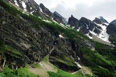 αιχμές βουνών στοκ εικόνες