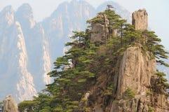 Αιχμές βουνών Huangshan, Κίνα Στοκ Εικόνα