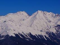 Αιχμές βουνών, Sochi, Krasnaya Polyana Στοκ φωτογραφία με δικαίωμα ελεύθερης χρήσης