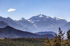 Αιχμές βουνών Toubkal, άτλαντας, Μαρόκο Στοκ Φωτογραφία